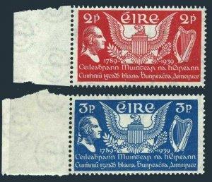 Ireland 103-104,MNH.Michel 69-70. US Constitution,150th Ann.1939.