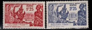 French Sudan Scott 116-117 MH* NYWF set 1939