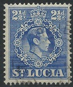 St Lucia 1938 - 2½d George VI - SG132 used
