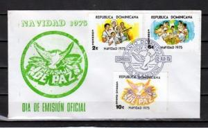 Dominican Rep., Scott cat. 755-756, C236. Christmas issue. First Day cover.