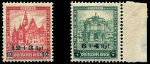 momen: Germany Stamps #B42-B43 Mint OG NH VF