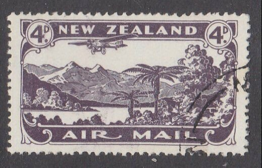 NEW ZEALAND 1931 4d airmail fine used - ACS cat NZ$30.......................M444
