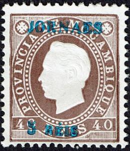 Mozambique 1893 Newspaper stamp MNG as issued # 26A CV 325.00€