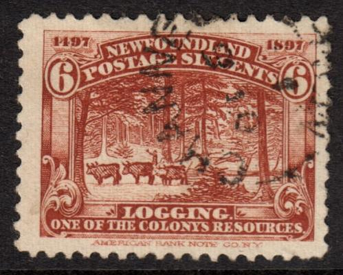 Newfoundland QV 1897 6c Red-Brown SG71 Good Used