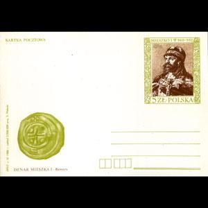 POLAND 1986 - Card-Ruler Mieszko