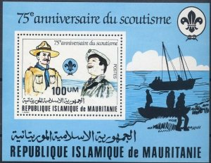 1982 Mauritania Boy Sea Scouts 75th anniversary SS