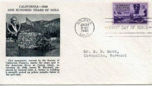 US FDC #954 California Gold, Fulton (0792)