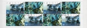 Faroe Islands Sc 417a 2002 Patursson Art stamp booklet pane in booklet used