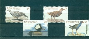 Micronesia - Sc# 461-4. 2001 Birds. MNH $5.25.