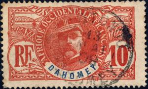 DAHOMEY - 1906 - Yv.22 / Mi.22 10c rose - Oblitéré TB