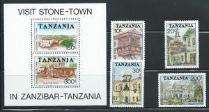 Tanzania 835-9 1992 Stone Town set and s.s. MNH