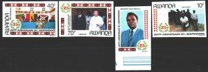 Rwanda. 1987. 1366V-69V. Pope Paul's Visit 2. MNH.