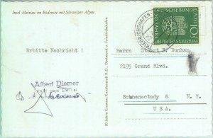 87567 - GERMANY - POSTAL HISTORY - Single STAMP on POSTCARD to USA 1953