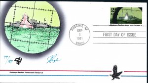 Beautiful Pugh Designed and Painted WWII Rueben James FDC -only 187 created...