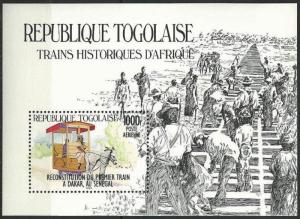 STAMP STATION PERTH Togo #1274 YTBF231 MNH S/S CV$14 First Train to Dakar/Horse