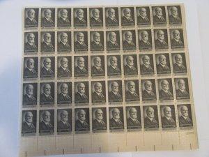 SCOTT 1195  4 CENT CHARLES EVANS HUGHES 1962 OG