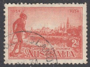 AUSTRALIA USED IN NORFOLK ISLAND 1934 Victoria 2d part cds..................G670