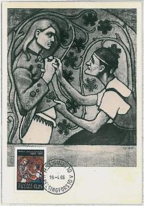 MAXIMUM CARD : Art - Paintings: FINLAND 1966 - Akseli Gallen-Kallela