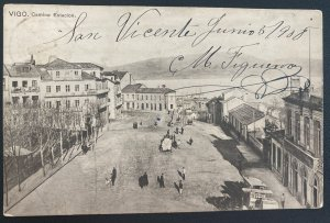 1906 England Paquebot RPPC Postcard Cover To Montevideo Uruguay Station Way