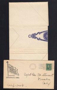 OHIO: Cincinnati, OH 1903 Cincinnati REGALIA Co. MASONIC/TEMPLAR/MILITARY