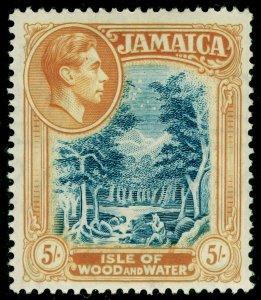 JAMAICA SG132, 5s slate-blue & yellow-orange, LH MINT. Cat £16.