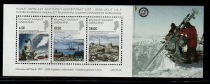 Greenland Sc 526a 2008 Science stamp sheet mint NH