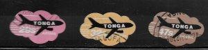 TONGA, C303-C305, USED, AIRMAIL