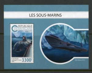 CENTRAL AFRICA 2018 SUBMARINES  SOUVENIR SHEET MINT NH