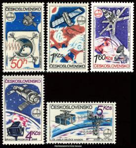 Czechoslovakia Scott 2303-2307 Mint never hinged.