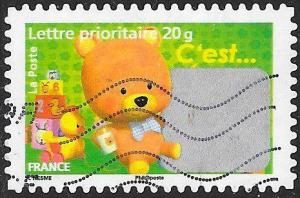 France 3439 Used - Greetings - It's a Boy - Unscratched