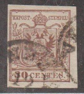 Austria - Lombardi-Venetia Scott #5 Stamp - Used Single