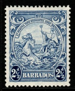 BARBADOS SG251bb 1944 2½d BLUE WITH MARK ON CENTRAL ORNAMENT MTD MINT