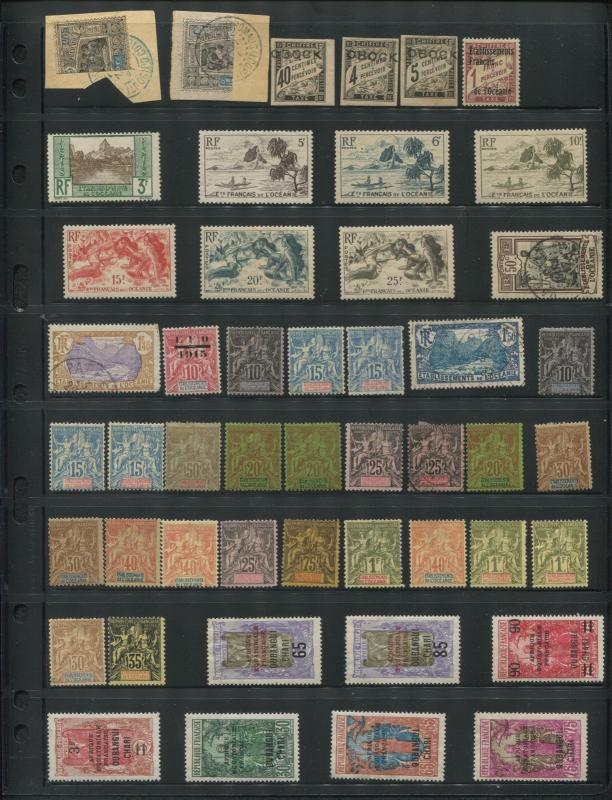 1880-1940 FRENCH COLONIES Stamp Collection Variety Catalogue Value $5,200