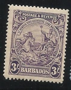 Barbados 179 3sh MH F/VF