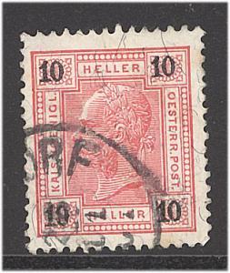 Austria 1901  Scott #75a used