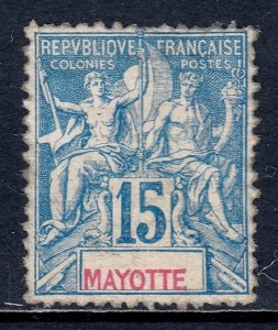 Mayotte - Scott #7 - MLH - Regummed, hinge thin, perf faults - SCV $17