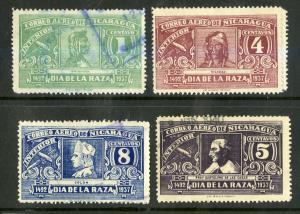 NICARAGUA C215-C221 MH BIN $1.50 PEOPLE
