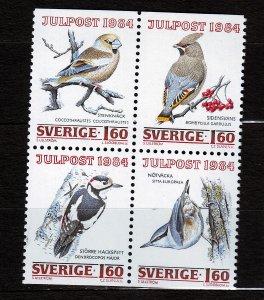 J23093 JLstamps 1984 sweden set mnh #1517-20 birds