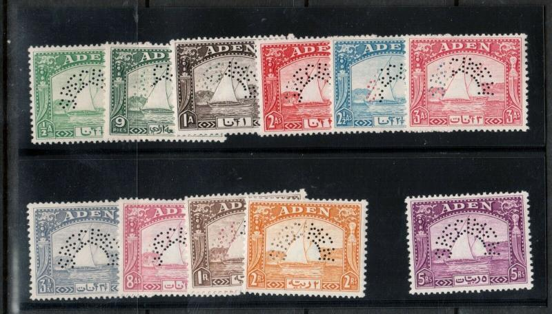 Aden #1s - #11s Very Fine Never Hinged With Specimen Perforated