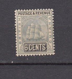J26590  jlstamps 1907-10 Br guiana  mh #176 ship grey/black wmk 3