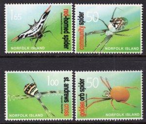 Norfolk Island 813-816 Spiders MNH VF
