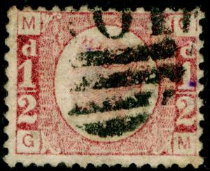 SG48, ½d rose-red PLATE 14, USED. Cat £22. GM