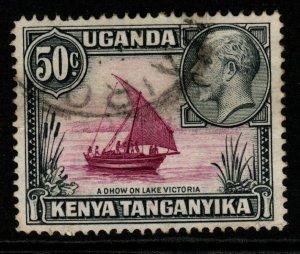 KENYA, UGANDA & TANGANYIKA SG116 1935 50c BRIGHT PURPLE & BLACK FINE USED