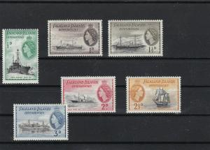 Falkland Islands Mounted Mint mixed ships Stamps ref R 16356
