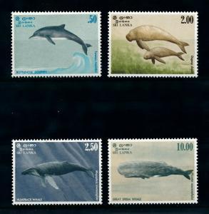 [99598] Sri Lanka 1983 Marine Life Whales Dolphin Dugong  MNH