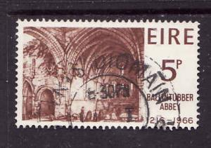 Ireland-Sc#218-used 5p red brown-Ballintubber Abbey-1966-Churches-