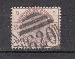 J26378  jlstamps 1883-4 great britain used #101 queen