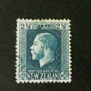 New Zealand: 1915, KGV 2.5d blue, Perf 14.5, SG 419a. Used.