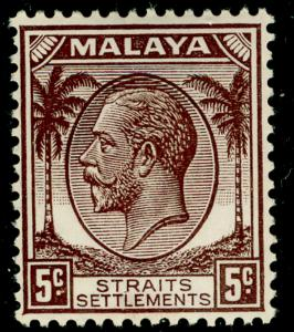 MALAYSIA - Staits Settlements SG263, 5c brown, VLH MINT.