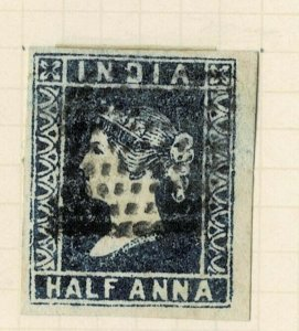 INDIA- 1854- 1/2A  FRESH AND RICH COLOR FINE USED dia 2nd